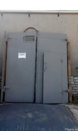 Ворота гаражные 2400х2700 утеплённые с калиткой