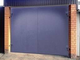 Ворота гаражные, сварные, железные, распашные