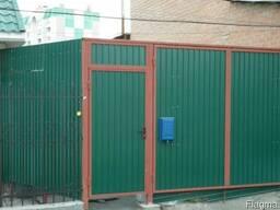 Ворота и забор (профнастил ) для дачи