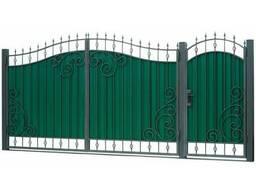 Ворота из профлиста с ковкой WQ22