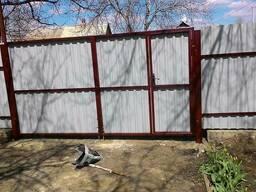 Ворота из профнастила под заказ