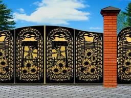 Ворота, калитки, декор из металла