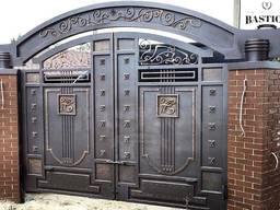 Ворота кованые калитки железные - ПДК Бастион