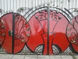 Ворота кованные с элементами художественной ковки под ключ - фото 1