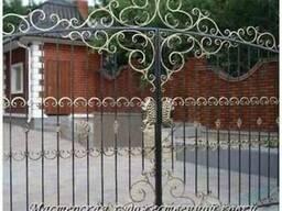Ворота кованые (откатные, распашные)