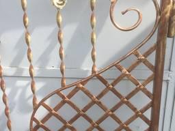 Ворота кованые с калиткой готовые.