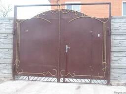 Ворота металеческие,из профнастила