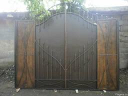 Ворота металические въездные