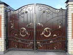 Ворота (металлические, из профлиста, кованые, гаражные). Навесы для дома