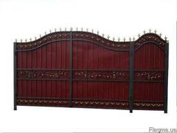 Ворота металлические кованые 2,10 х 4,25 м