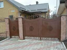 """Ворота металлические, железные. фирмы """"Броневик""""."""
