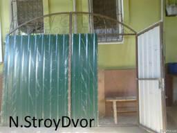 Ворота, ограждения, козырьки над входом (крыльцом)вольеры и т. - фото 2