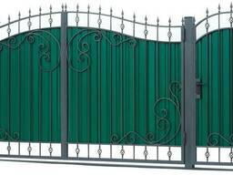 Ворота распашные гаражные. Калитки. решетки на окна. навесы