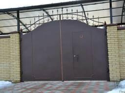 """Ворота распашные, откатные """"Броневик"""" в Днепропетровске."""