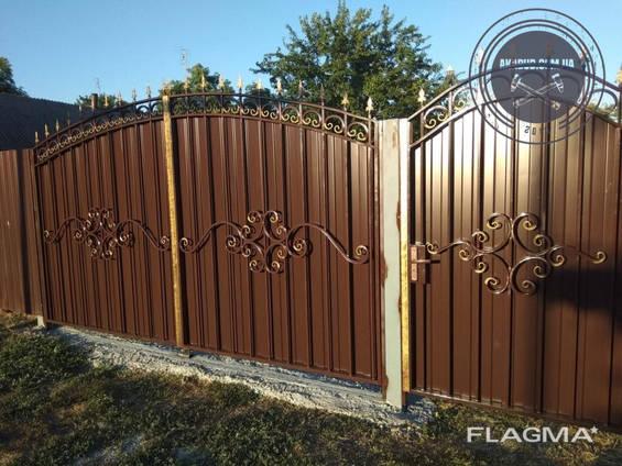 Двери, решетки, навесы, козырьки, ворота, калитки