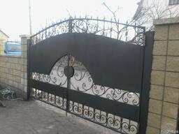 Ворота с калиткой из профлиста - фото 5