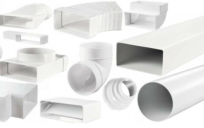 Воздуховоды пластиковые (прямоугольные, круглые)