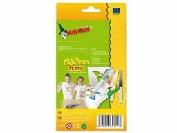 Воздушные фломастеры-аэрографы для ткани Malinos Textil, 5 шт SKL17-149653