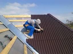 Монтаж кровли, ремонт крыши