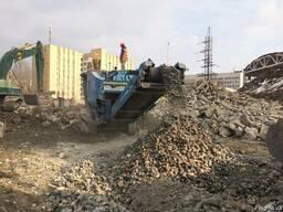Вторичный щебень, дробленый бетон, кирпичный бой