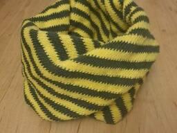 Вязаный детский шарф снуд