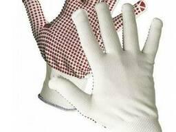Вязаные нейлоновые рабочие защитные перчатки без швов