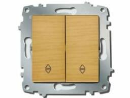 Выключатель 2-й проходной ZENA модуль береза/клен EL-BI