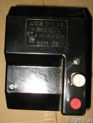Выключатели АП50Б на ток 2,5А; 6,3А. уставка 10 In УПП УТОС