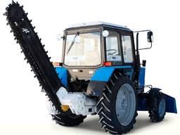 Выкопаем траншею БАРОМ траншеекопатель режем землю под трубы Мариуполь земляные работы