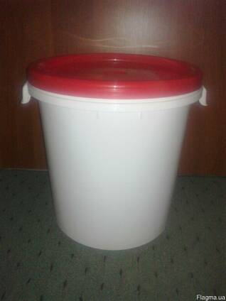 Вёдра, бочки пластиковые пищевые б/у на 30 л.
