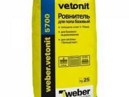 Выравнивающая смесь для пола Weber Vetonit 5700, 25 кг.