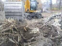 Вырубка деревьев корчевание