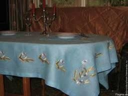 Вышивка на столовом текстиле