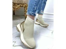 Высокие кроссовки текстиль