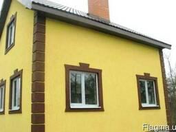 Ремонт и покраска фасада, короед, шуба, барашек