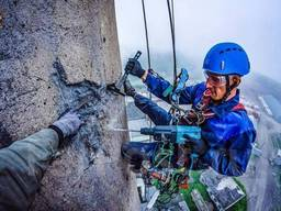 Высотные работы (утепление)профессиональными альпинистами бе