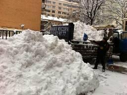 Уборка снега вручную. Вывоз снега 8м. куб. с погрузкой