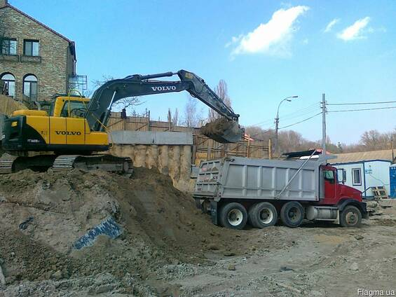 Вывоз строительного мусора, глины, грунта, песка