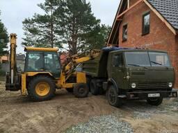 Вывоз строительного мусора Камаз экскаватор