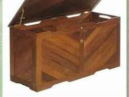 Ящик вещевой из мербау «Cushion box»