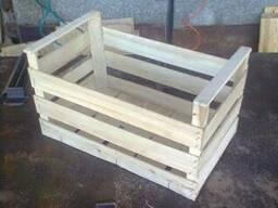 Ящики деревянные для яблок повышенной вместимости сшитый на