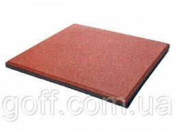 Якісна Плитка з гумової крихти - теракотовий колір