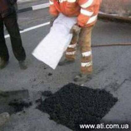 Ямочный ремонт дорог, асфальта