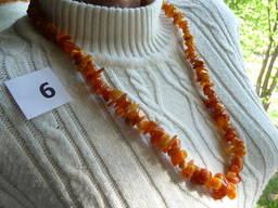 Янтарные бусы ожерелье цвет белый медовый зелёный лечебные