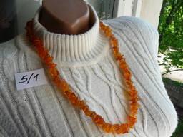 Янтарные ожерелья бусы янтарь лечебный №5 медовый прозрачный