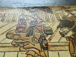 Японский свиток постер по мотивам Укиё-э Сюбун Тэнсё Сэссю Сансуй Тёкан Dimense print. ..