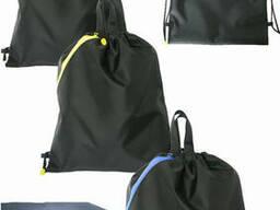 Непромокаемый чёрный вело рюкзачок на два отделения . ..