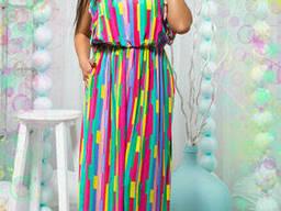 Яркое женское платье-сарафан в пол 50-54р , доставка по. . .