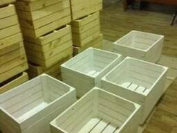 Ящик деревянный декоративный, покрашен водостойкой краской
