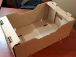 Ящик под огурец . Картонный ящик под овощи